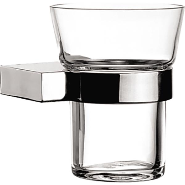Diagon A44426EXP ХромАксессуары для ванной<br>Стакан для зубных щеток Vitra Diagon A44426EXP.<br>Строгий и лаконичный дизайн изделия дополнит интерьер любой ванной комнаты.<br>Размер: 10.5x9.2x11.5 см.<br>Материал: латунь, стекло.<br>