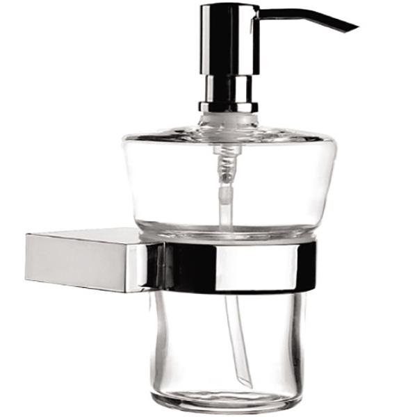 Diagon A44427EXP ХромАксессуары для ванной<br>Дозатор для жидкого мыла Vitra Diagon A44427EXP.<br>Строгий и лаконичный дизайн изделия дополнит интерьер любой ванной комнаты.<br>Размер: 10.6x9.2x15.8 см.<br>Материал: латунь, стекло.<br>
