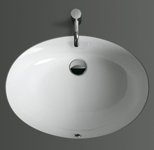 Top Lavabi S 53 БелаяРаковины<br>Встраиваемая раковина Simas Top Lavabi S 53 овальной формы, цвет - белый. Благодаря исполнению в стиле модерн, данная модель раковины отлично впишется в любой интерьер. В комплект поставки входит чаша раковины.<br>
