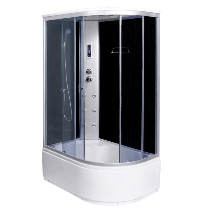 Modo-130 AQ-4073GFL  ПраваяДушевые кабины<br>Прямуогольная душевая кабина Aqualux Modo-130 (аисмметричная) с двумя раздвижными дверцами из тонированного стекла, толщиной 4 мм Гидромассаж спины на 6 форсунок, верхний тропический душ, ручной душ. В кабине: радио, полочка для косметических средств, сидение, вентиляция. Установка: правосторонняя угловая.<br>