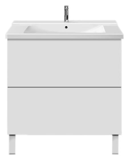 L-Cube LC6601 белая глянцеваяМебель для ванной<br>Тумба под раковину Duravit L-Cube LC6601 из высокоплотной трехслойной ДСП с двумя выдвижными ящиками.<br>
