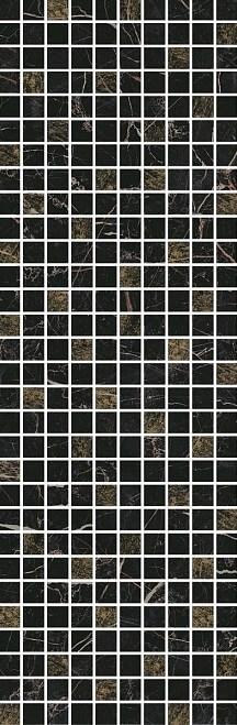 Керамический декор Kerama Marazzi Астория черный мозаичный 25х75 см