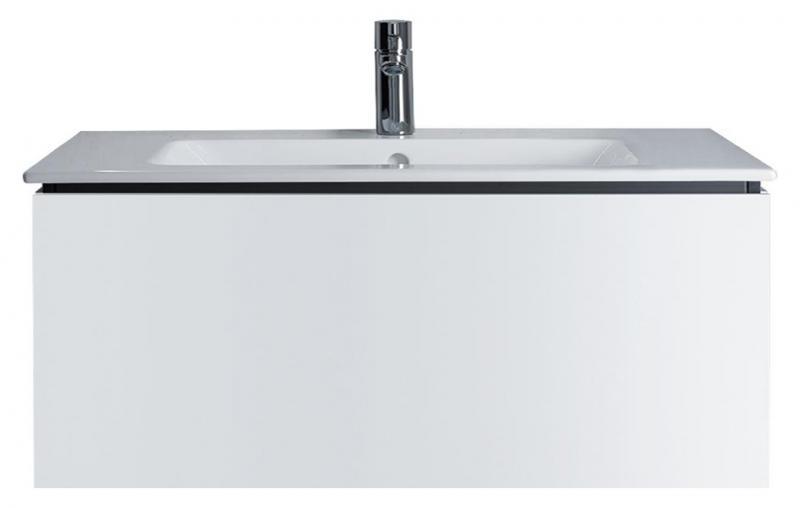 L-Cube LC6142 голубой камень глянецМебель для ванной<br>Тумба под раковину Duravit L-Cube LC6142 из высокоплотной трехслойной ДСП с выдвижным ящиком, цвет stone blue high gloss М47.<br>