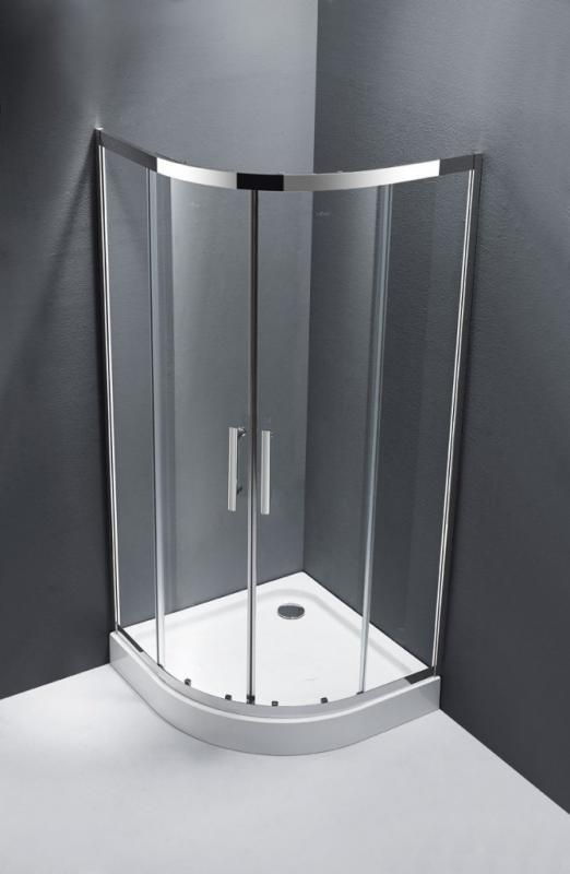 Lucido LUCIDO-R-2-90-C-Cr Прозрачное стеклоДушевые ограждения<br>Душевой уголок CezaresLucido LUCIDO-AH-1-120/90-C-Cr, радиальный симметричный, R-550. Две раздвижные двери с белым магнитным уплотнителем. Прозрачное стекло 6 мм. Профиль хром. Поддон типа R (радиус 550) приобретаются отдельно. Профиль изготовлен из нержавеющей стали марки SUS-304.<br>