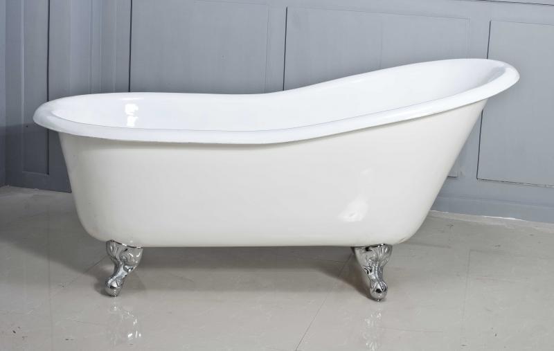 Bonna 130 БелаяВанны<br>Чугунная ванна RetroStyle Bonna 130. Материал - эмалированный чугун. Ножки - хромированные.<br>