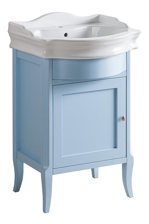 Валенсия 60 ANTICO light vintage (B 043)Мебель для ванной<br>Мебель для ванной Каприго Валенсия 60. В стоимость входит тумба напольная под умывальник. С распашной дверкой. Размеры – 616x995x510 мм. Отделка – ANTICO light vintage. Варианты мебельных ручек – В 08, В 15, В 13.<br>