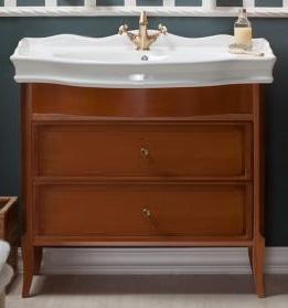 Валенсия 100 с ящиками ONTANO (B 009)Мебель для ванной<br>Мебель для ванной Каприго Валенсия 100 с ящиками. В стоимость входит тумба напольная под умывальник. С двумя распашными дверцами. Размеры – 930x826x515 мм. Отделка – ONTANO. Варианты мебельных ручек – В 08, В 13.<br>