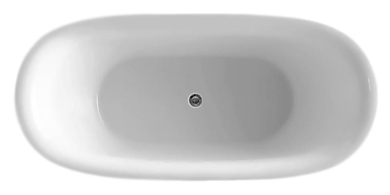 BB48 170x80 biancoВанны<br>Ванна BelBagno BB48-1700 белая, из листового высококачественного акрила. Акрил за счет своей низкой теплопроводности значительно повышает комфорт принятия ванны и предоставляет массу удовольствия своим владельцам. Необычная форма ванны подчеркивает элегантность и создает атмосферу красоты.<br>