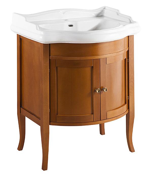 Треви 70 NOCE ANTICO (B 009)Мебель для ванной<br>Тумба под раковину Каприго Треви 70 выполненная в популярном классическом стиле. С двумя распашными дверцами. Размеры – 650x825x535 мм. Отделка – NOCE ANTICO. Варианты мебельных ручек – В 12, В 13. Размер тумбы с раковиной 745x958x545 мм.<br>