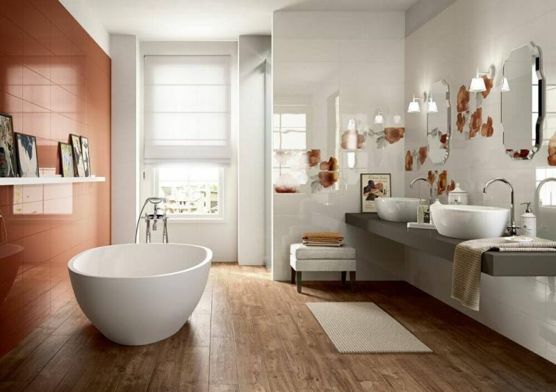 Керамическая плитка Marazzi Italy Colourline Ivory/Taupe/Orange Decoro MLEP 22х66,2 декор цена