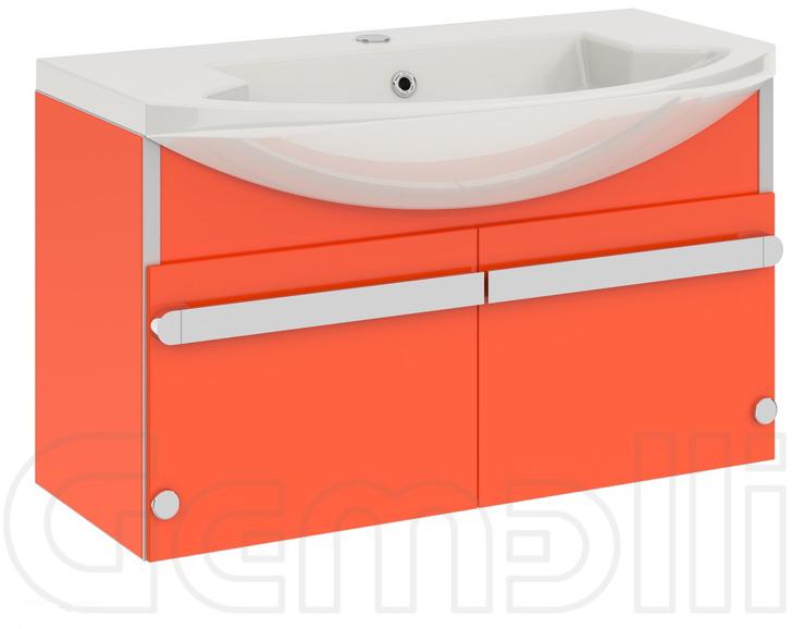 Glass New 90 подвесная Светло-серыйМебель для ванной<br>В цену входит тумба подвесная Gemelli Glass New 90 подвесная укомплектованная раковиной Logic. Все комплектующие (зеркала, пеналы, полупеналы, полки) приобретаются отдельно.<br>
