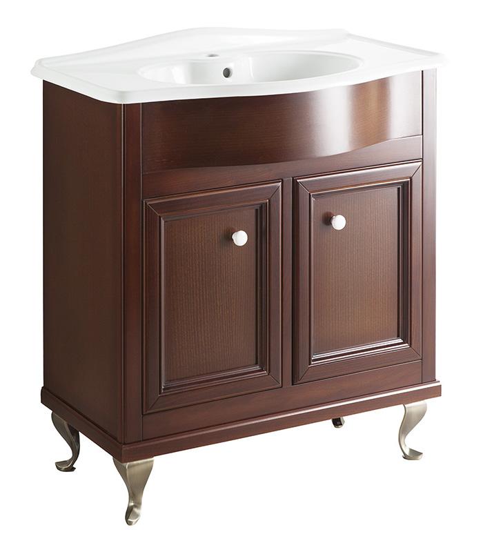 Порто 80 BIANCO porto (B 040)Мебель для ванной<br>Мебель для ванной Каприго Наполи 80. В стоимость входит тумба напольная под раковину. Размеры – 764x870x434 мм. Ручка – В 12. Отделка – BIANCO porto. Размер тумбы с раковиной 810x930x465 мм.<br>