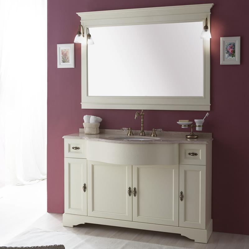 Комплект Гринвич 1400 ANTICO light vintage (B 043)Мебель для ванной<br>Комплект мебели для ванной Каприго Гринвич 1400. В комплектацию входит: тумба под раковину, зеркало. Размеры – 1360х1973х570 мм. Отделка – ANTICO light vintage.<br>