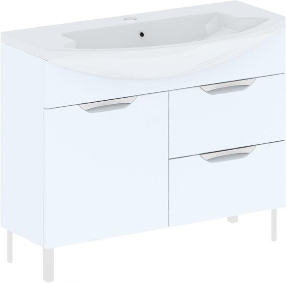 Cosmo New 108 на ножках (исполнение II) Бежевый глянецМебель для ванной<br>В цену входит тумба на ножках Gemelli Сosmo New укомплектованная раковиной Logic. Все комплектующие (зеркала, пеналы, шкаф) приобретаются отдельно.<br>