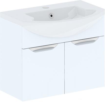 Cosmo New 75 подвесная (исполнение I) Белый глянецМебель для ванной<br>В цену входит тумба подвесная Gemelli Сosmo New укомплектованная раковиной Logic. Все комплектующие (зеркала, пеналы, шкаф) приобретаются отдельно.<br>
