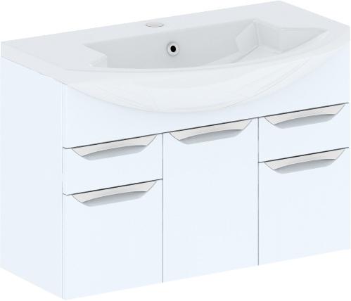 Cosmo New 90 подвесная (исполнение I) Белый глянецМебель для ванной<br>В цену входит тумба подвесная Gemelli Сosmo New укомплектованная раковиной Logic. Все комплектующие (зеркала, пеналы, шкаф) приобретаются отдельно.<br>