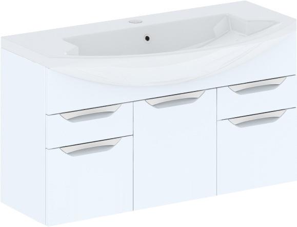 Cosmo New 108 подвесная (исполнение I) Белый глянецМебель для ванной<br>В цену входит тумба подвесная Gemelli Сosmo New укомплектованная раковиной Logic. Все комплектующие (зеркала, пеналы, шкаф) приобретаются отдельно.<br>