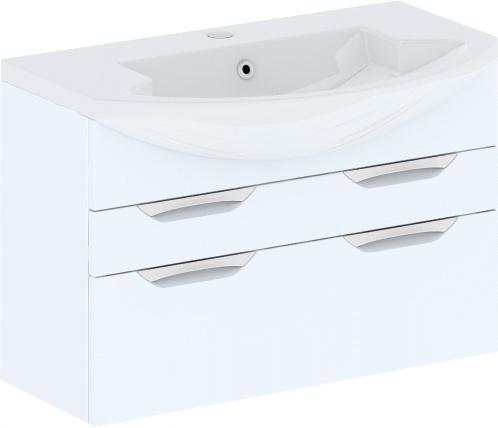 Cosmo New 90 подвесная с ящиками (исполнение II) Бежевый глянецМебель для ванной<br>В цену входит тумба подвесная с ящиками Gemelli Сosmo New укомплектованная раковиной Logic. Все комплектующие (зеркала, пеналы, шкаф) приобретаются отдельно.<br>