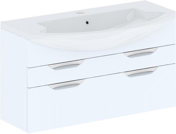 Cosmo New 108 подвесная с ящиками (исполнение II) Бежевый глянецМебель для ванной<br>В цену входит тумба подвесная с ящиками Gemelli Сosmo New укомплектованная раковиной Logic. Все комплектующие (зеркала, пеналы, шкаф) приобретаются отдельно.<br>
