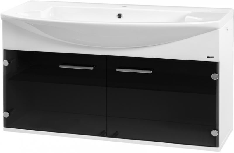 Logica 108 подвесная Коричневый (шоколадный)Мебель для ванной<br>В цену входит тумба подвесная Gemelli Logica укомплектованная раковиной Logic. Все комплектующие (зеркала, пеналы, полупеналы, полки) приобретаются отдельно.<br>