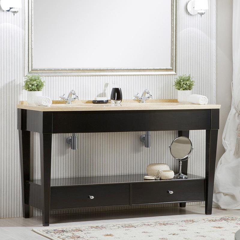 Даллас 160 NERO lucido (B 032)Мебель для ванной<br>Мебель для ванной Каприго Даллас 160. В стоимость входит напольная тумба без столешницы и раковины. Размеры – 1570x900x595 мм. Отделка – NERO lucido. Варианты мебельных ручек – В 08, В 14, В 18B, В 18S.<br>