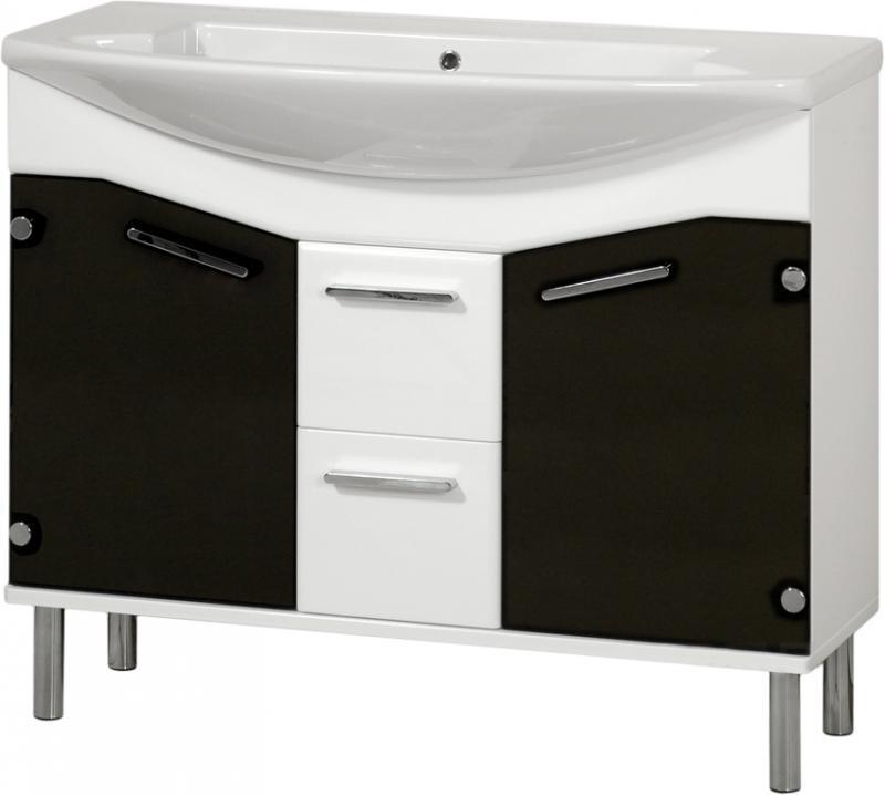 Logica 90 на ножках Обычное зеркалоМебель для ванной<br>В цену входит тумба на ножках Gemelli Logica укомплектованная раковиной Logic. Все комплектующие (зеркала, пеналы, полупеналы, полки) приобретаются отдельно.<br>