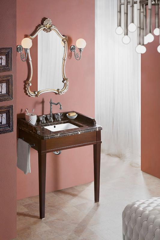 Hotel 80 КоричневаяМебель для ванной<br>Консоль Каприго Hotel 80 без столешницы и раковины.<br>