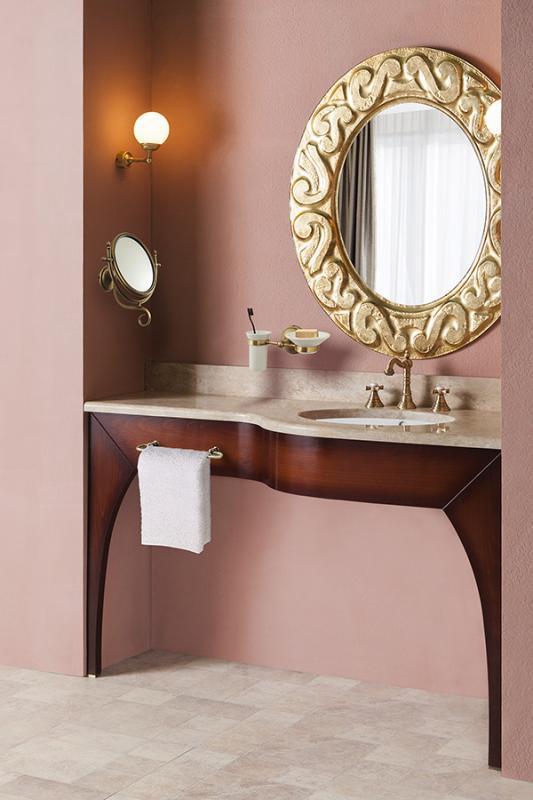 Ponte 120/130 КоричневаяМебель для ванной<br>Консоль Каприго Ponte 120/130 без столешницы и раковины.<br>