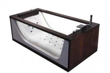 Incanto 2 венгеВанны<br>Ванна Doctor Jet Incanto 2. Стоимость указана за ванну на раме, деревянные поручни, со сливом переливом. Фурнитура хром.<br>