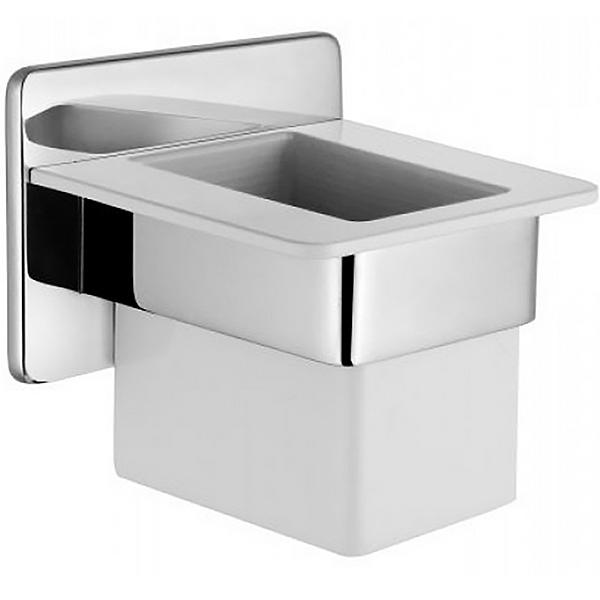 Somnia A44497EXP ХромАксессуары для ванной<br>Стакан для зубных щеток Vitra Somnia A44497EXP.<br>Универсальный и лаконичный дизайн изделия дополнит интерьер любой ванной комнаты.<br>