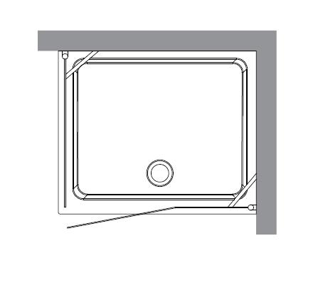 Retro 9142 P1 профиль золото стекло матовое рисунок прозрачныйДушевые ограждения<br>Душевой уголок Kerasan Retro 9142 P1.<br>