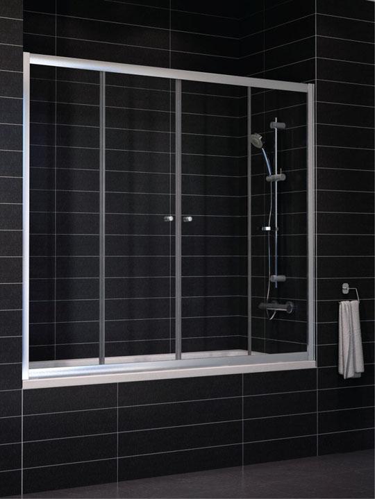 Zeus 2V 180 профиль белый стекло шиншиллаДушевые ограждения<br>Стоимость указанна за раздвижную шторку на ванну Zeus 2V 180. Профиль белый, стекло шиншилла. Арт. Z2V 0180 01 02.<br>