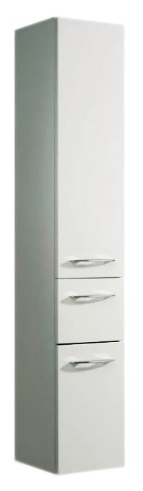 Cassca 30 белый высокоглянцевый, левыйМебель для ванной<br>Пенал подвесной немецкого качества Pelipal Cassca 30, 2 дверцы с петлями слева, 1 выдвижной ящик, 3 стеклянные полки. Фасад белый высокоглянцевый, корпус белый глянцевый. Материалы, из которых изготовлен пенал экологически чистые. Материал фасада - ламинированное МДФ. Цена указана за пенал. Все остальное приобретается дополнительно.<br>