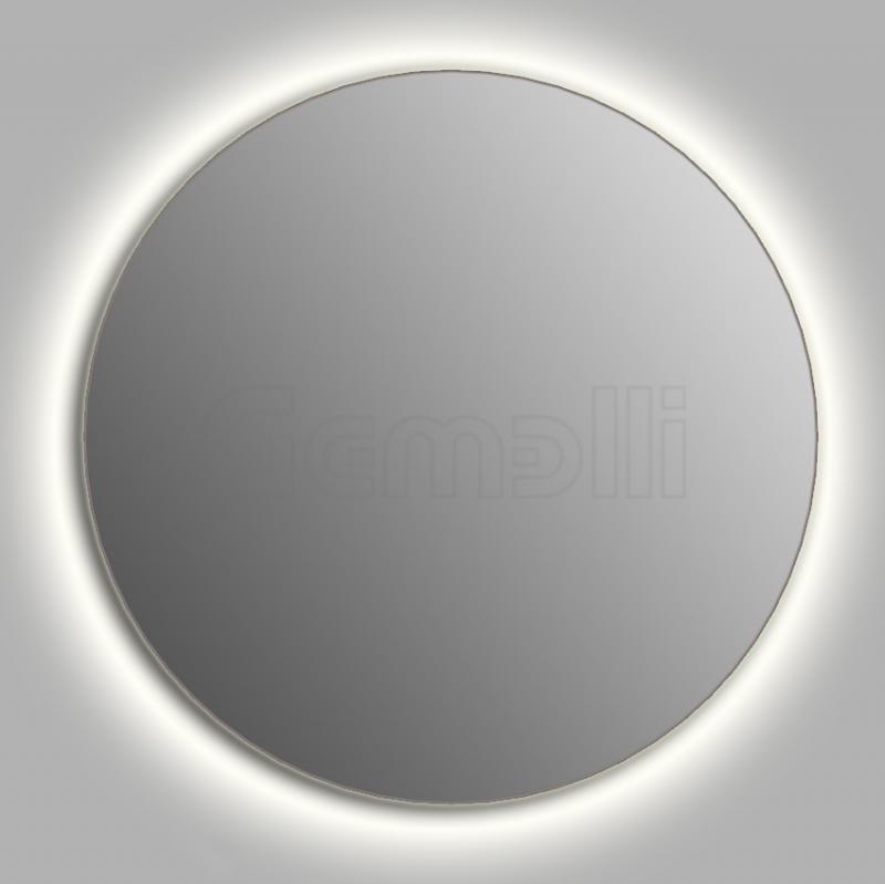 Design D-contour 105 смМебель для ванной<br>Зеркало круглой формы из модельного ряда Design с Led-подсветкой. Толщина зеркала 5-6 мм с превосходным качеством отражения. Регулируемое крепление зеркала к стене. Выключатель сенсорный Touchtronic (включение касанием) внизу на лицевой панели зеркала. Диаметр зеркала - 105 см, глубина (с учетом монтажного крепления и корпуса) - 4 см.<br>
