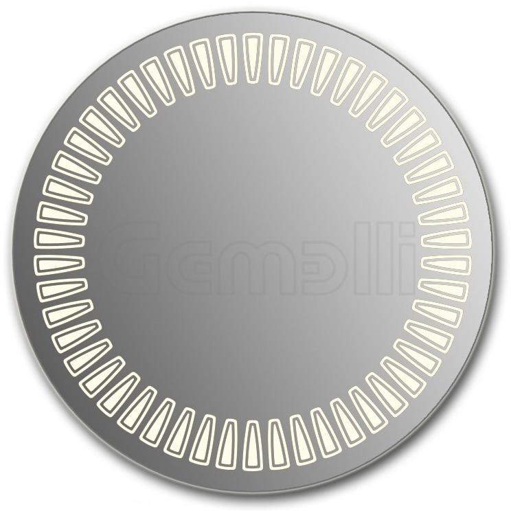 Design D-sole 75 смМебель для ванной<br>Зеркало круглой формы из модельного ряда Design с фронтальной Led-подсветкой. Толщина зеркала 5-6 мм с превосходным качеством отражения.  Оригинальное сочетание формы зеркала и подсветки. Регулируемое крепление зеркала к стене. Выключатель сенсорный Touchtronic (включение касанием) внизу на лицевой панели зеркала. Диаметр зеркала - 75 см, глубина (с учетом монтажного крепления и корпуса) - 4 см.<br>