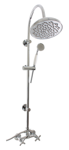 Morava Retro MK181.5/3 ХромДушевые системы<br>Душевая система Rav Slezak Morava Retro MK181.5/3 для душа. В комплектацию входит смеситель, верхний душ, ручной душ, шланг для душа, держатель душа.<br>
