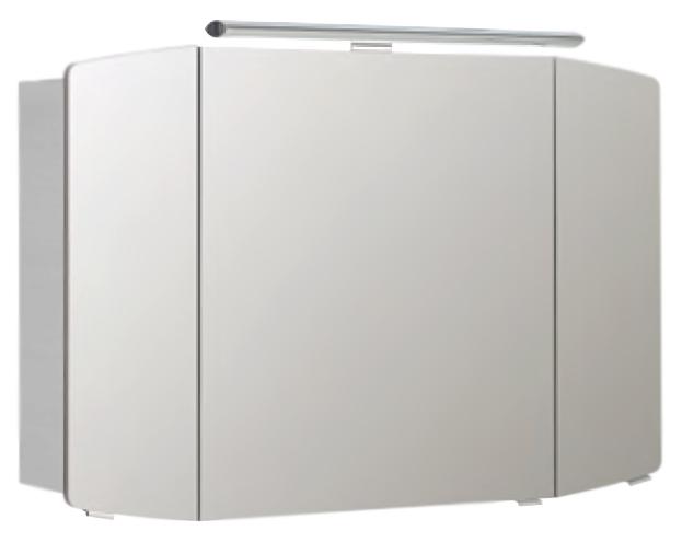 Cassca 100 белый глянцевыйМебель для ванной<br>Зеркальный шкаф немецкого качества Pelipal Cassca 100, 3 секции, 6 стеклянных полок, встроенный светильник. Цена указана за зеркальный шкаф. Все остальное приобретается дополнительно.<br>