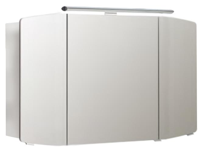 Cassca 120 белый глянцевыйМебель для ванной<br>Зеркальный шкаф немецкого качества Pelipal Cassca 120, светодиодная подсветка, 3 зеркальные дверцы, 6 стеклянных полок, розетка и выключатель. Цена указана за зеркальный шкаф. Все остальное приобретается дополнительно.<br>