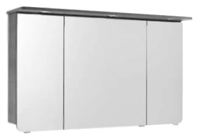 Solitaire 6005 120 белый глянцевыйМебель для ванной<br>Зеркальный шкаф немецкого качества Pelipal Solitaire 6005 120, подсветка 12 В. LED, LM LED, 3 зеркальные дверцы, розетка и выключатель. Цена указана за зеркальный шкаф. Все остальное приобретается дополнительно.<br>