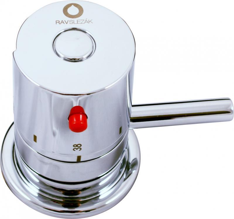 DT268.5 ХромСмесители<br>Смеситель с термостатом Rav Slezak DT268.5 для ванны. Способ монтажа горизонтальный на 1 отверстие, однорычажный, гибкая подводка 1/2.<br>