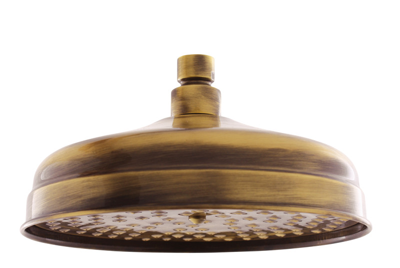 KS0020SM БронзаДушевые гарнитуры<br>Rav Slezak KS0020SM верхний душ. Диаметр лейки 20 см, на один тип струи. Стилистика дизайна ретро, материал латунь, цвет бронза.<br>