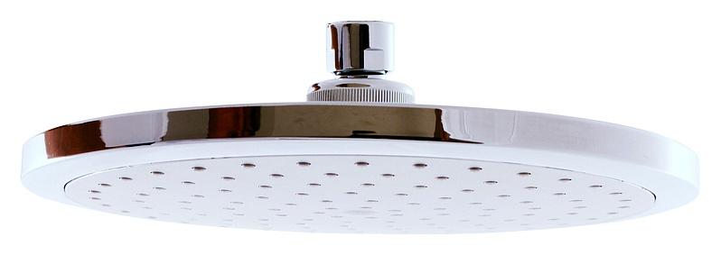 PS0043 ХромДушевые гарнитуры<br>Rav Slezak PS0043 верхний душ. Диаметр лейки 23 см, круглая, на один тип струи. С функцией EasyClean – легко удаляет налет вокруг душевых сопел. Материал пластик, цвет хром.<br>