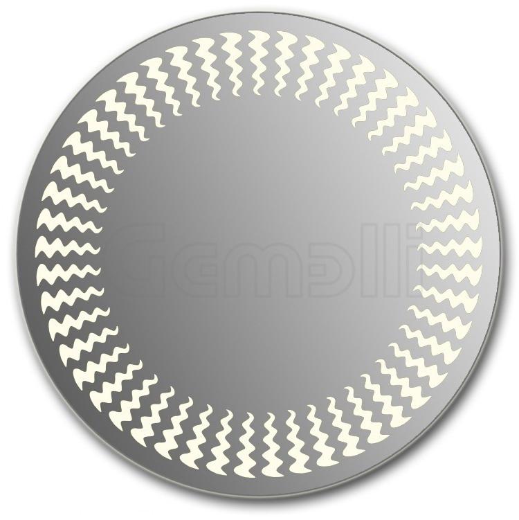 Design D-wave 75 смМебель для ванной<br>Зеркало круглой формы из модельного ряда Design с фронтальной LED-подсветкой. Толщина зеркала 5-6 мм с превосходным качеством отражения. Оригинальное сочетание формы зеркала и подсветки. Регулируемое крепление зеркала к стене. Выключатель сенсорный Touchtronic (включение касанием) внизу на лицевой панели зеркала. Диаметр зеркала - 75 см, глубина (с учетом монтажного крепления и корпуса) - 4 см.<br>