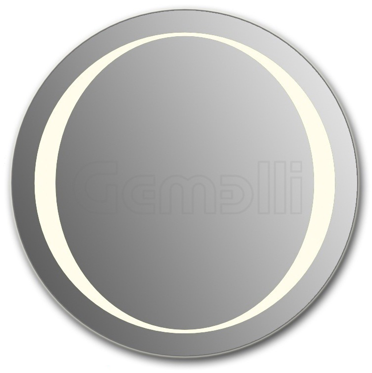 Design D-zero 90 смМебель для ванной<br>Зеркало круглой формы из модельного ряда Design с фронтальной LED-подсветкой. Толщина зеркала 5-6 мм с превосходным качеством отражения. Оригинальное сочетание формы зеркала и подсветки. Регулируемое крепление зеркала к стене. Выключатель сенсорный Touchtronic (включение касанием) внизу на лицевой панели зеркала. Диаметр зеркала - 90 см, глубина (с учетом монтажного крепления и корпуса) - 4 см.<br>