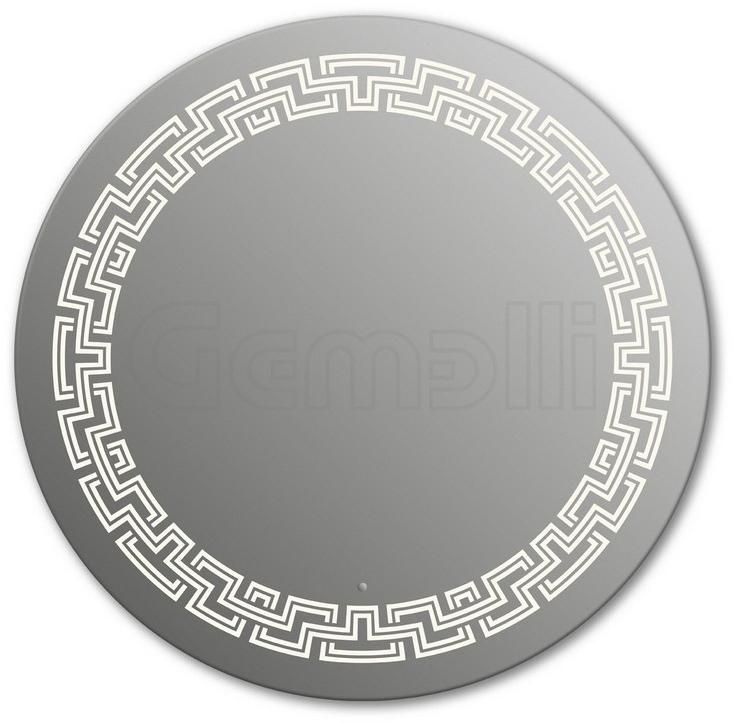 Design D-zeus 90 смМебель для ванной<br>Зеркало круглой формы из модельного ряда Design с фронтальной LED-подсветкой. Толщина зеркала 5-6 мм с превосходным качеством отражения. Оригинальное сочетание формы зеркала и подсветки. Регулируемое крепление зеркала к стене. Выключатель сенсорный Touchtronic (включение касанием) внизу на лицевой панели зеркала. Диаметр зеркала - 90 см, глубина (с учетом монтажного крепления и корпуса) - 4 см.<br>