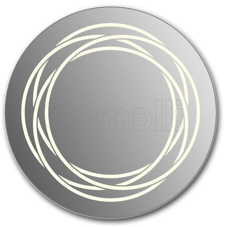 Design D-rings 90 смМебель для ванной<br>Зеркало круглой формы из модельного ряда Design с фронтальной LED-подсветкой. Толщина зеркала 5-6 мм с превосходным качеством отражения. Оригинальное сочетание формы зеркала и подсветки. Регулируемое крепление зеркала к стене. Выключатель сенсорный Touchtronic (включение касанием) внизу на лицевой панели зеркала. Диаметр зеркала - 90 см, глубина (с учетом монтажного крепления и корпуса) - 4 см.<br>