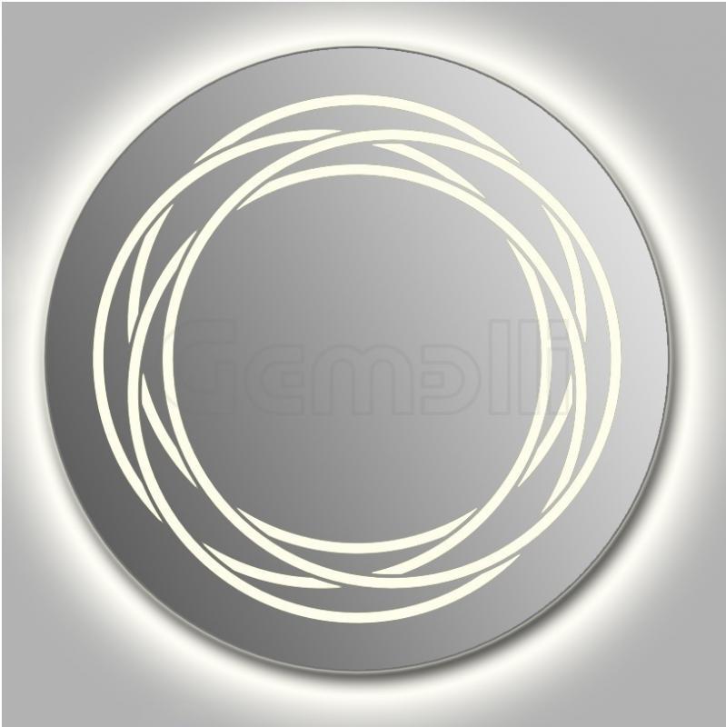 Design D-rings Contour 105 смМебель для ванной<br>Зеркало круглой формы из модельного ряда Design с контурной и фронтальной LED-подсветкой. Толщина зеркала 5-6 мм с превосходным качеством отражения. Оригинальное сочетание формы зеркала и подсветки. Регулируемое крепление зеркала к стене. Выключатель сенсорный Touchtronic (включение касанием) внизу на лицевой панели зеркала. Диаметр зеркала - 105 см, глубина (с учетом монтажного крепления и корпуса) - 4 см.<br>