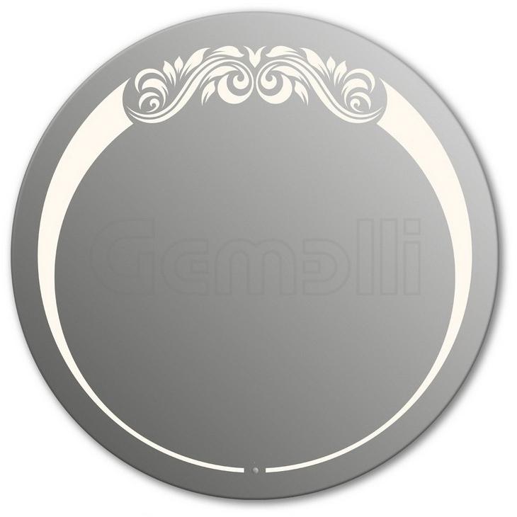 Design D-beauty Top 90 смМебель для ванной<br>Зеркало круглой формы из модельного ряда Design с фронтальной LED-подсветкой. Толщина зеркала 5-6 мм с превосходным качеством отражения. Оригинальное сочетание формы зеркала и подсветки. Регулируемое крепление зеркала к стене. Выключатель сенсорный Touchtronic (включение касанием) внизу на лицевой панели зеркала. Диаметр зеркала - 90 см, глубина (с учетом монтажного крепления и корпуса) - 4 см.<br>