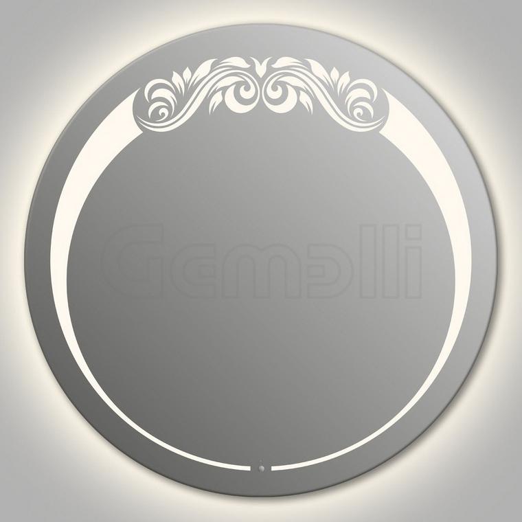 Design D-beauty Top Contour 75 смМебель для ванной<br>Зеркало круглой формы из модельного ряда Design с контурной и фронтальной LED-подсветкой. Толщина зеркала 5-6 мм с превосходным качеством отражения. Оригинальное сочетание формы зеркала и подсветки. Регулируемое крепление зеркала к стене. Выключатель сенсорный Touchtronic (включение касанием) внизу на лицевой панели зеркала. Диаметр зеркала - 75 см, глубина (с учетом монтажного крепления и корпуса) - 4 см.<br>