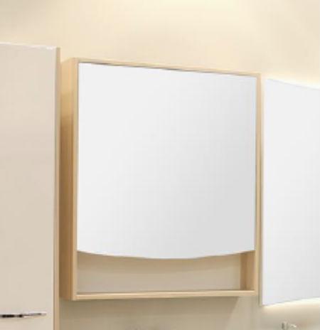 Инфинити 76 Белый глянецМебель для ванной<br>Зеркальный шкаф Акватон Инфинити 76 с 2 навесами в комплекте для ванной комнаты. За фигурным фасадом зеркального шкафа расположены, регулируемые по высоте, стеклянные полки.<br>